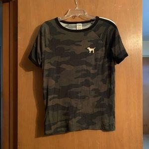 PINK VS Camo Shirt Size S